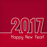 Happy New Year 2017. Greeting card. Vector New Year background Stock Photo