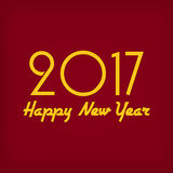 Happy New Year 2017. Greeting card. Vector New Year background Stock Photography