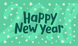 Happy New Year greeting card vector template Stock Image