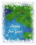 Happy New Year greeting card. Stock Photo