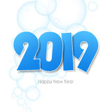 Happy new year 2019  greeting card. Stock Image