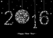 Happy New Year 2016  greeting card. Stock Photos