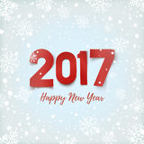 Happy New Year 2017 greeting card. Stock Photos