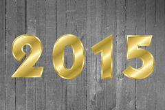 2015 Happy New Year Greeting Card. Wood Background. Royalty Free Stock Image