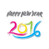 Happy new year 2016 greeting design Stock Photography