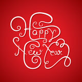 Happy new year greeting design Royalty Free Stock Photos