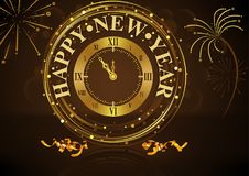 Happy New Year Greeting Stock Photo