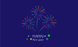 Happy new year greeting Royalty Free Stock Image