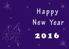 Happy New Year greeting image Royalty Free Stock Photo