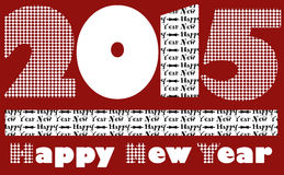 Happy New Year for 2015 greeting Royalty Free Stock Photo