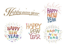 Happy New Year Greeting Logo Royalty Free Stock Image