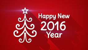 Happy new 2016 year greeting with long shadows. Happy new 2016 year greeting. flat style illustration with long shadows Stock Photo
