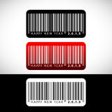 2015 Happy New Year greeting looks like a barcode Stock Image