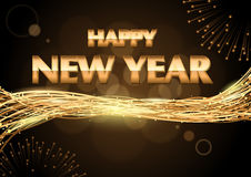 Happy New Year Greeting Royalty Free Stock Photography