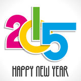 Happy new year greeting 2015 Royalty Free Stock Photo