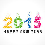 Happy new year greeting 2015 Stock Photography