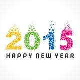 Happy new year greeting 2015. Stock stock illustration
