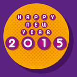 Happy new year greeting 2015. Stock Royalty Free Illustration