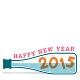 Happy new year greeting 2015. Stock Royalty Free Stock Image
