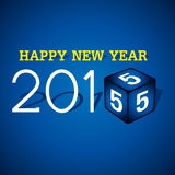 Happy new year greeting 2015 Royalty Free Stock Image