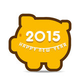 Happy new year greeting 2015. Stock Stock Images