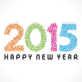 Happy new year greeting 2015 Stock Photos