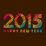 Happy new year greeting 2015 Stock Images