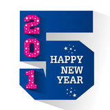 Happy new year greeting 2015. Stock Stock Photography