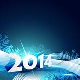 Happy new year greeting. Stylish happy new year greeting design stock illustration
