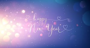 Happy New Year Greeting Text. Vector stock photos