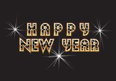 Happy New Year Greeting Text Vector. Happy New Year Greeting Vector Design Illustration vector illustration