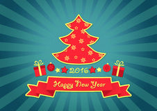 Happy New Year 2016 Greetings Card Stock Photos