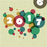 Happy new 2017 year. Greetings card. Colorful design.  Royalty Free Stock Images