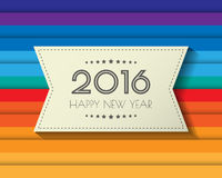 Happy new 2016 year. Greetings card. Colorful design. Vector ill. Ustration Stock Image