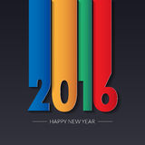 Happy new 2016 year. Greetings card. Colorful design. Vector ill Stock Photos