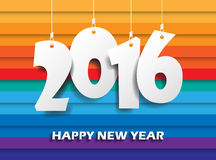 Happy new 2016 year. Greetings card. Colorful design. Vector ill Royalty Free Stock Images