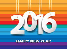 Happy new 2016 year. Greetings card. Colorful design. Vector ill. Ustration Royalty Free Stock Images