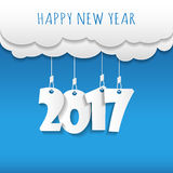 Happy new 2017 year. Greetings card. Colorful design. Vector ill Royalty Free Stock Photos