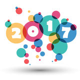 Happy new 2017 year. Greetings card. Colorful design. Vector ill Stock Image