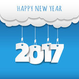 Happy new 2017 year. Greetings card. Colorful design. Vector ill Royalty Free Stock Image