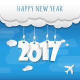 Happy new 2017 year. Greetings card. Colorful design. Vector ill Royalty Free Stock Photography