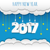 Happy new 2017 year. Greetings card. Colorful design. Vector ill. Ustration Royalty Free Stock Images