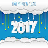 Happy new 2017 year. Greetings card. Colorful design. Vector ill. Ustration Stock Images