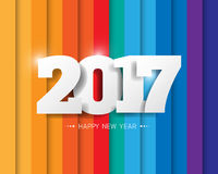 Happy new 2017 year. Greetings card. Colorful design. Vector ill Royalty Free Stock Images