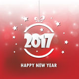 Happy new 2017 year. Greetings card. Colorful design. Vector ill. Ustration Royalty Free Stock Photography