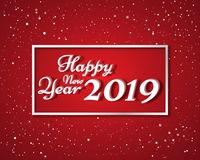 Happy new year 2019. Greetings card. Colorful design. Vector illustration.  royalty free illustration