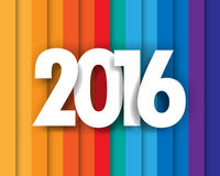 Happy new 2016 year. Greetings card. Colorful design. Stock Image