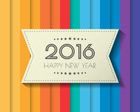 Happy new 2016 year. Greetings card. Colorful design. Vector illustration Royalty Free Stock Photography