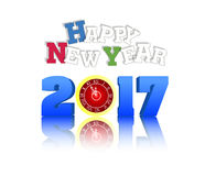 2017 Happy New Year Greetings Card Stock Photography