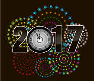 2017 Happy New Year Greetings Card Royalty Free Stock Photo